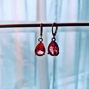 Jewelry - Sterling Silver Genuine Pink Sapphire Earrings